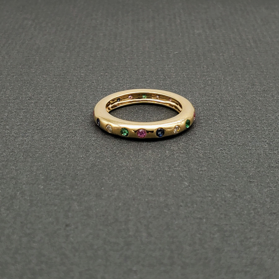PRECIOUS GEMS GOLD RING