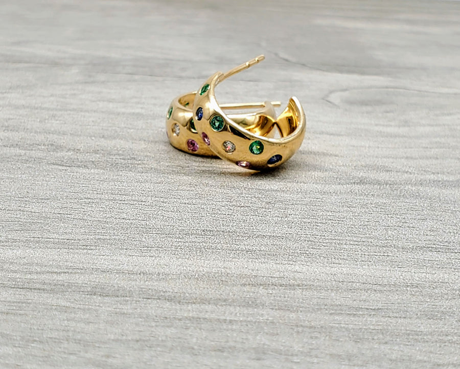 PRECIOUS GEMS GOLD EARRINGS