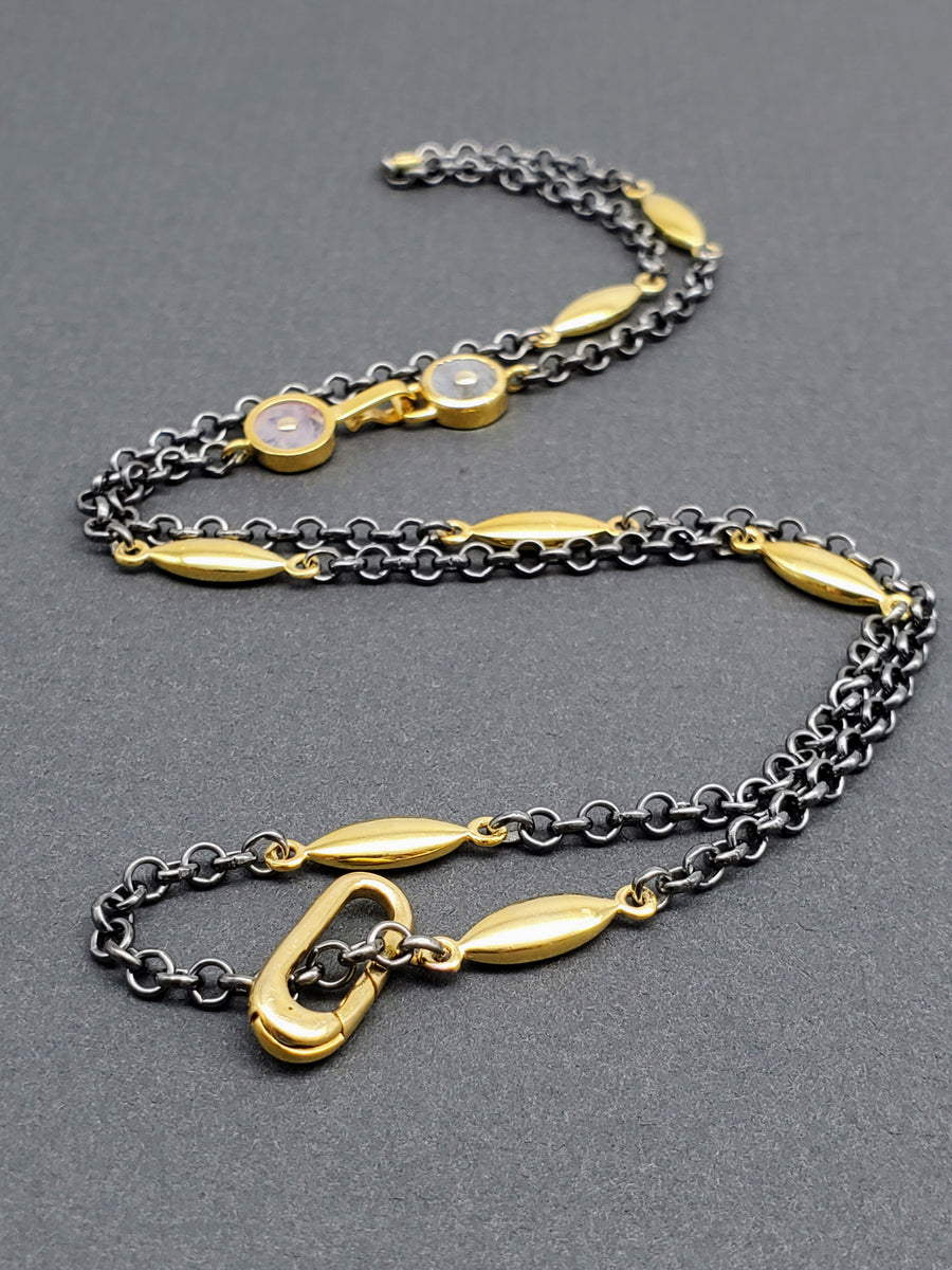GOLD OXY SUN NECKLACE