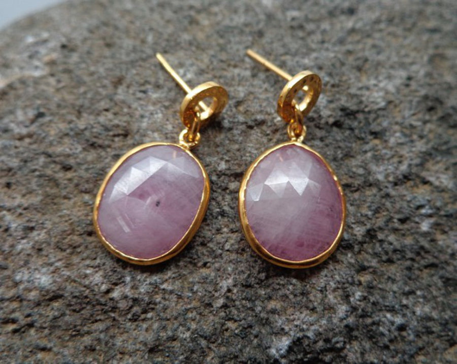 RUBIES TEXTURED EARRINGS