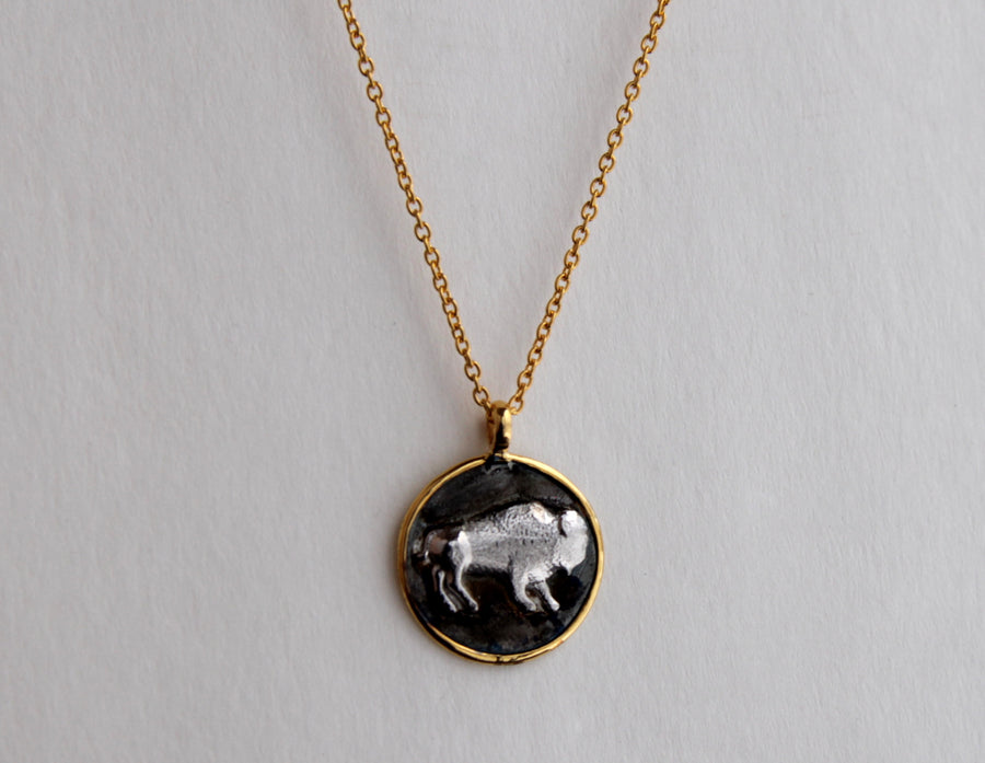 BISON GOLD NECKLACE SONIA TONKIN