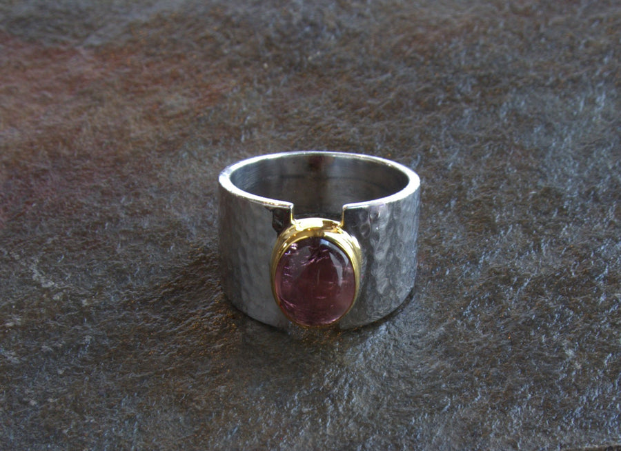 CABOCHON TOURMALINE  RING