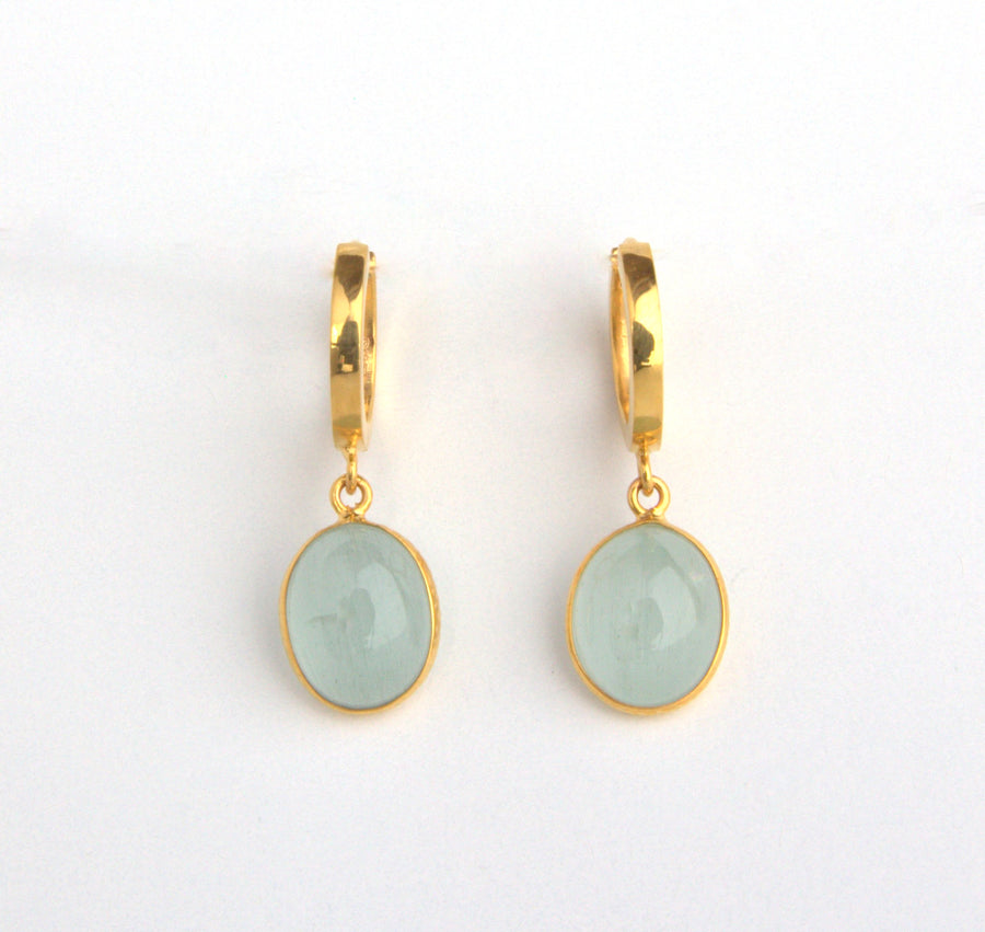 SMALL HOOPS GEM EARRINGS SONIA TONKIN