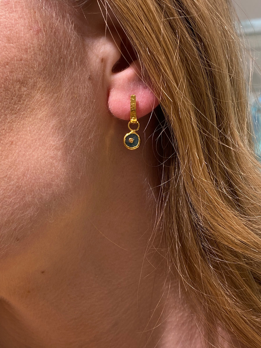 HAMMERED POST SUN EARRINGS