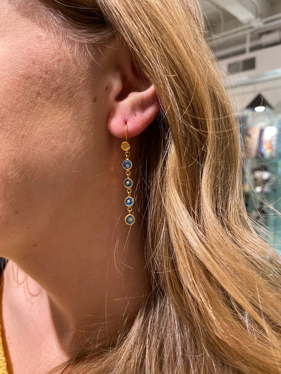 DIAMOND APATITE SIGNATURE EARRINGS