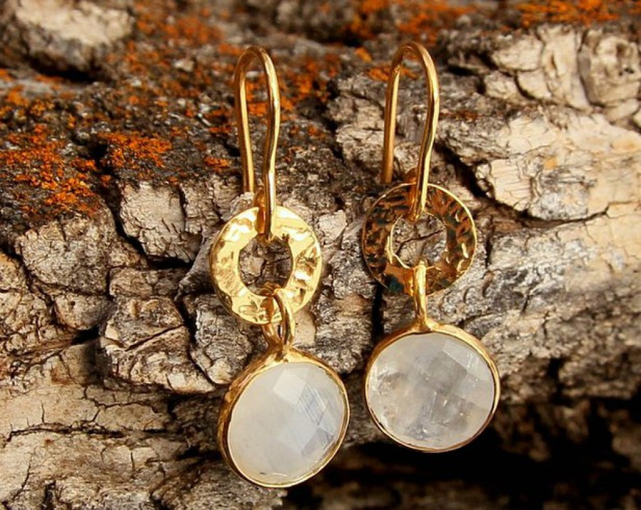 ROSE CUT MOONSTONE EARRINGS SONIA TONKIN