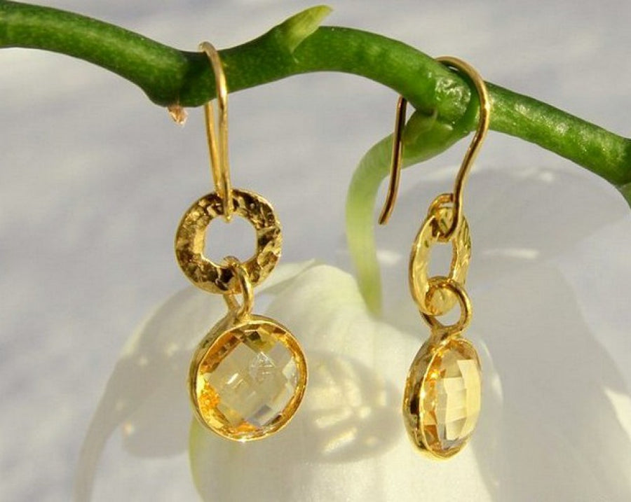 CITRINE GOLD EARRINGS SONIA TONKIN