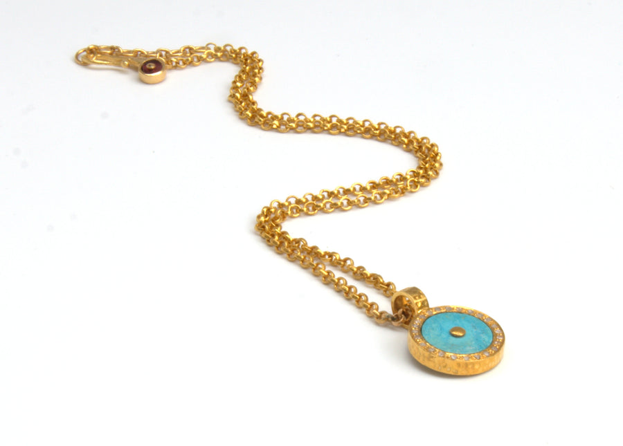 TURQUOISE DIAMOND SIGNATURE NECKLACE