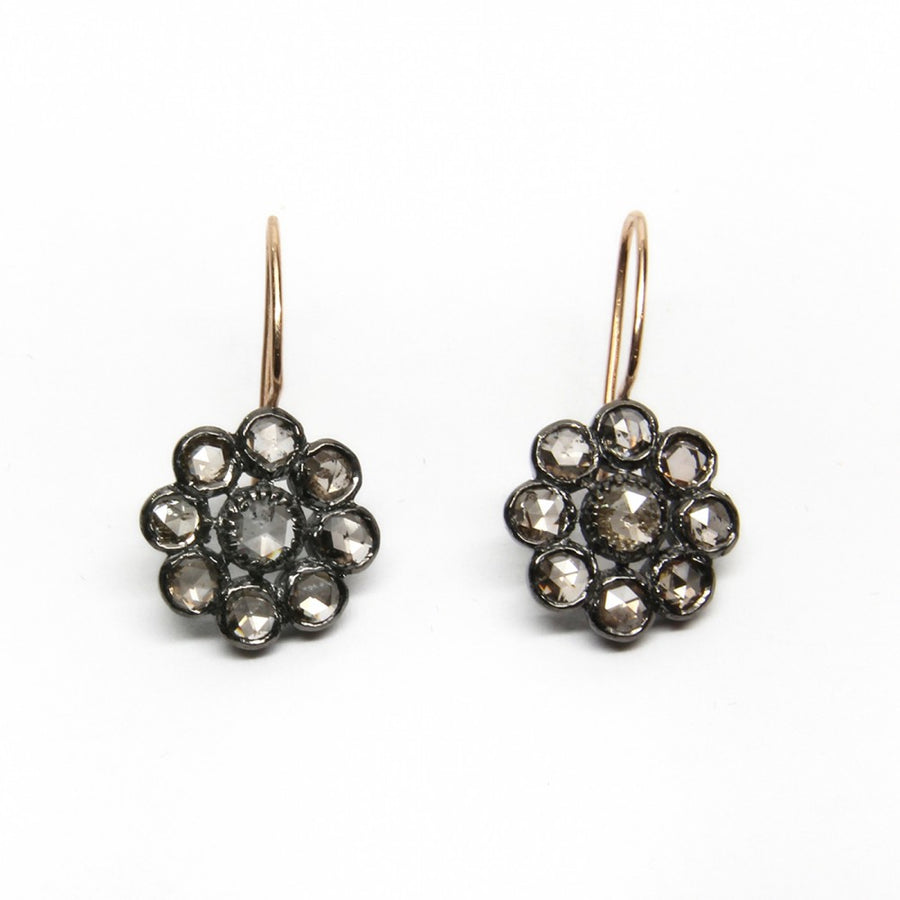 GREY DIAMOND GOLD EARRINGS SONIA TONKIN