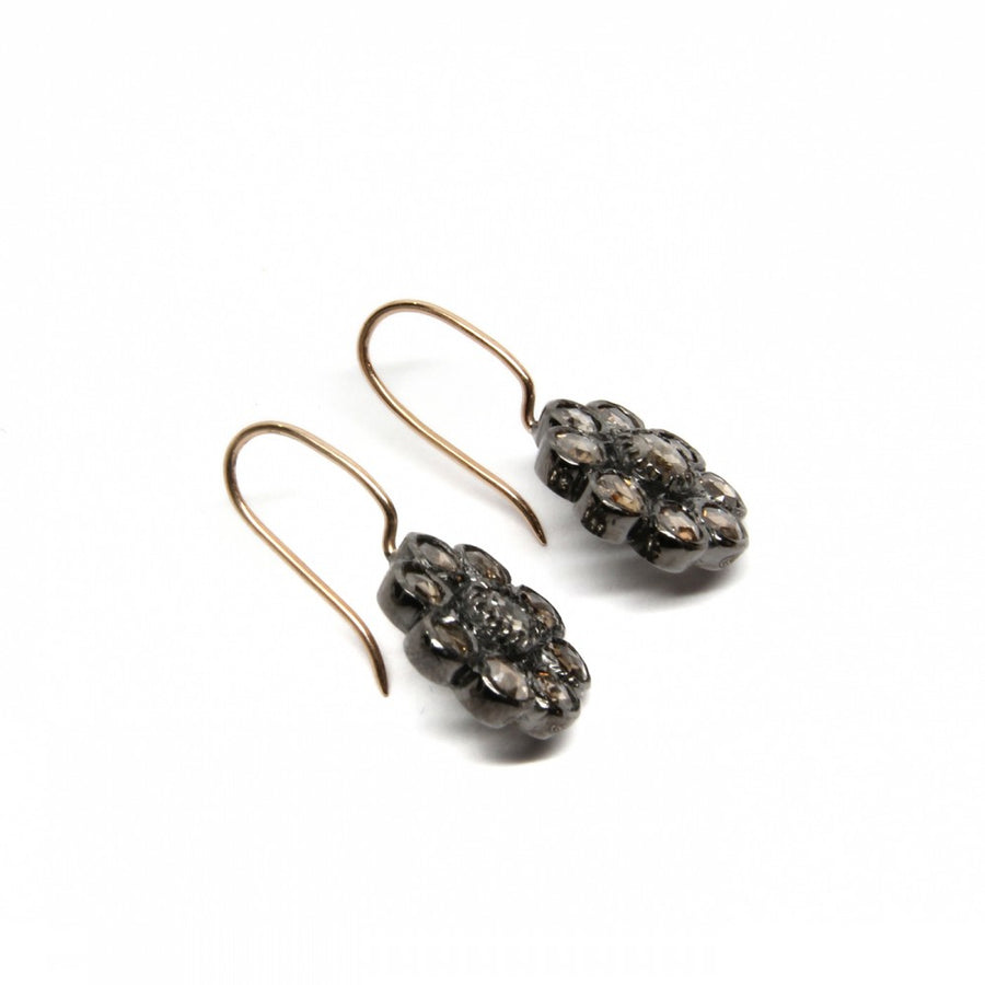 GREY DIAMOND GOLD EARRINGS