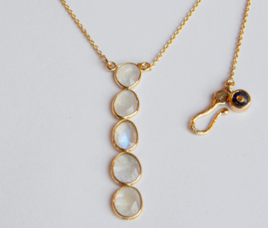 ORGANIC MOONSTONE GOLD NECKLACE