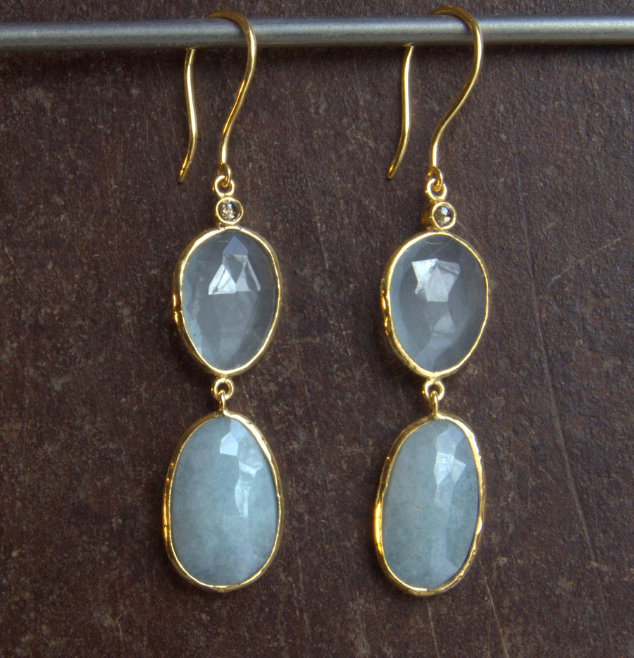 AQUAMARINE GOLD EARRINGS SONIA TONKIN