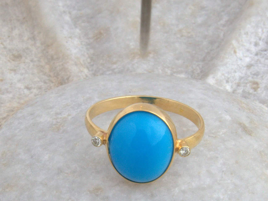 SLEEPING BEAUTY TURQUOISE DIAMOND RING