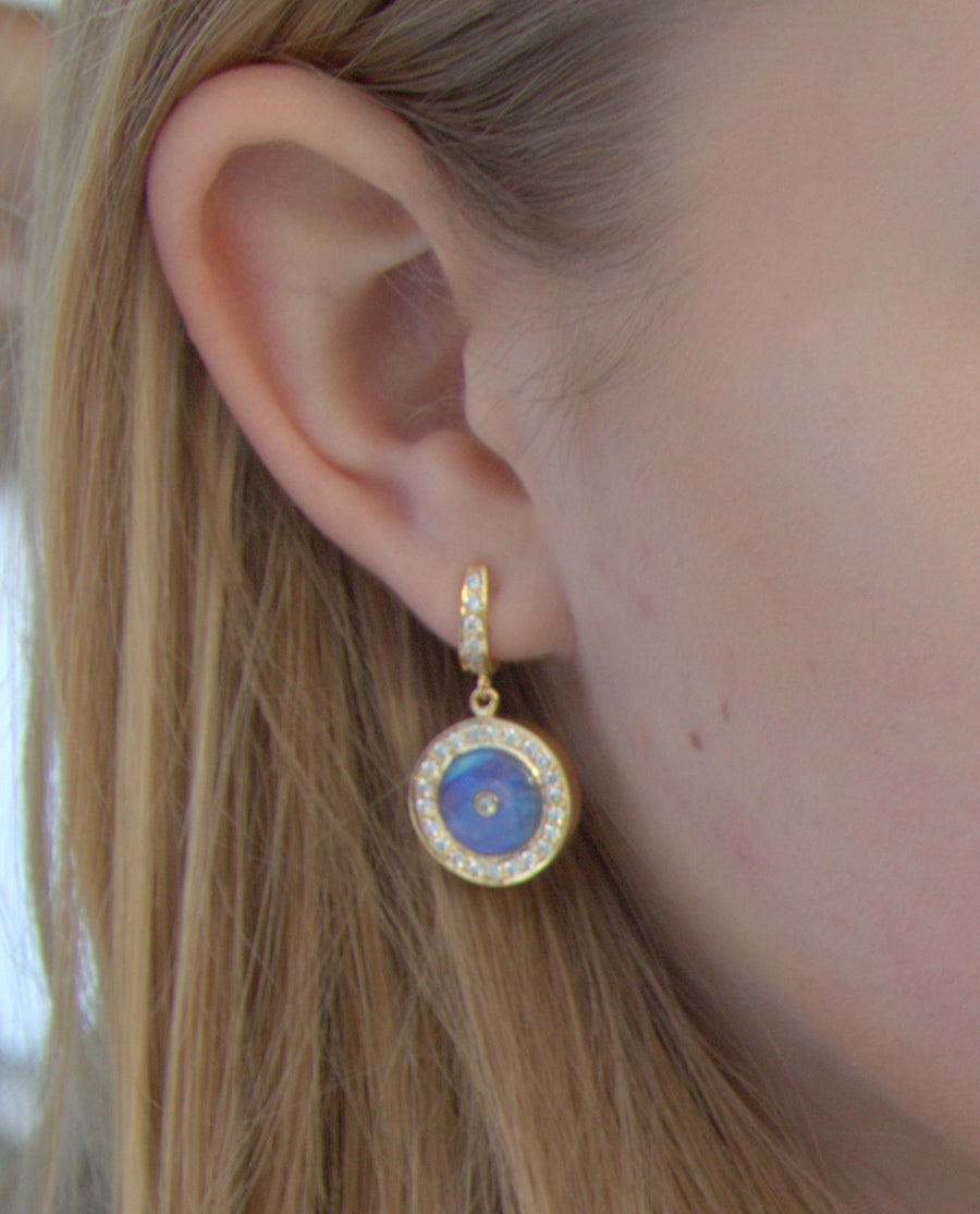 MAGNIFIQUE PRECIOUS 14KT GOLD EARRINGS