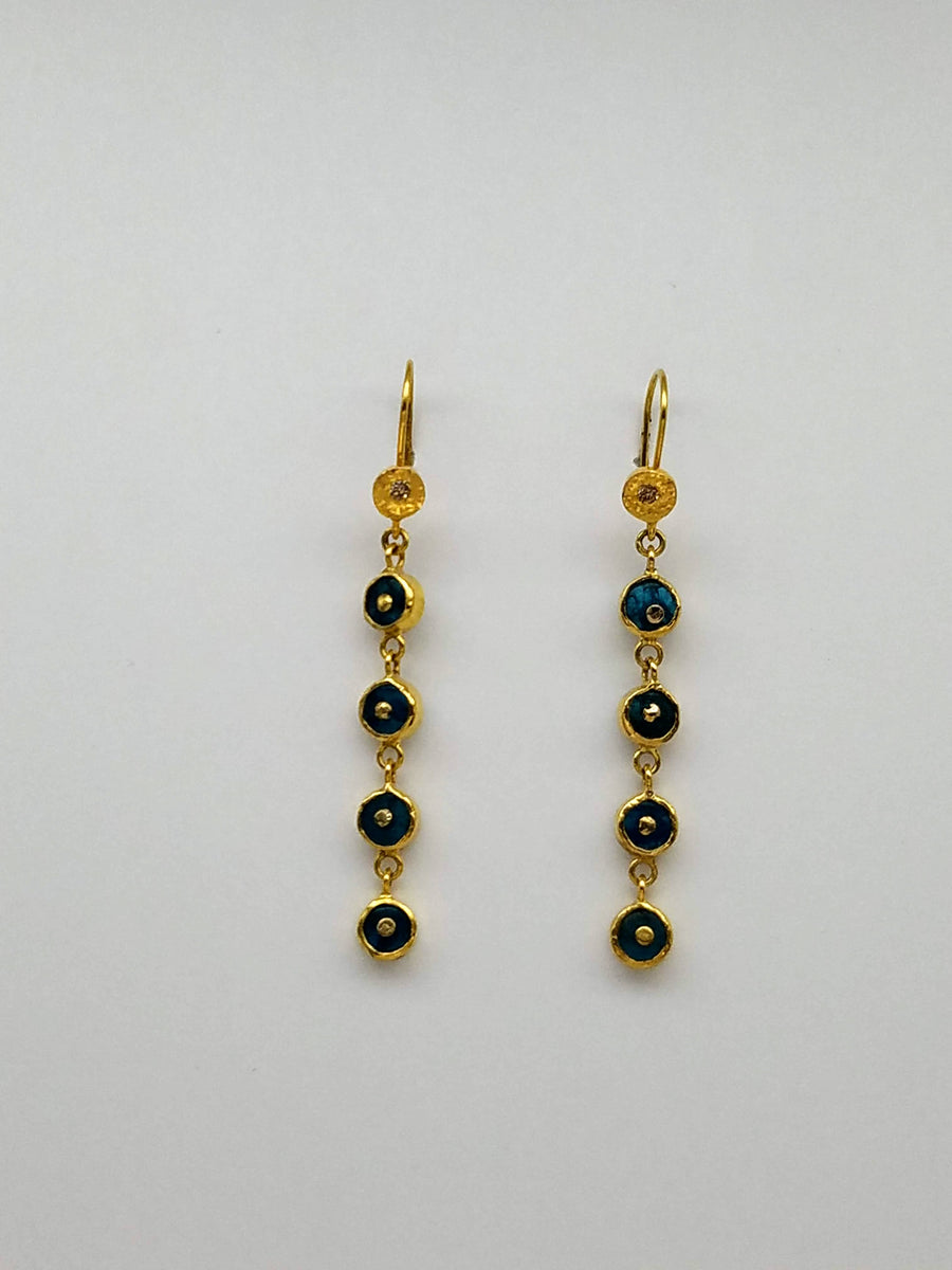 DIAMOND APATITE SIGNATURE EARRINGS SONIA TONKIN