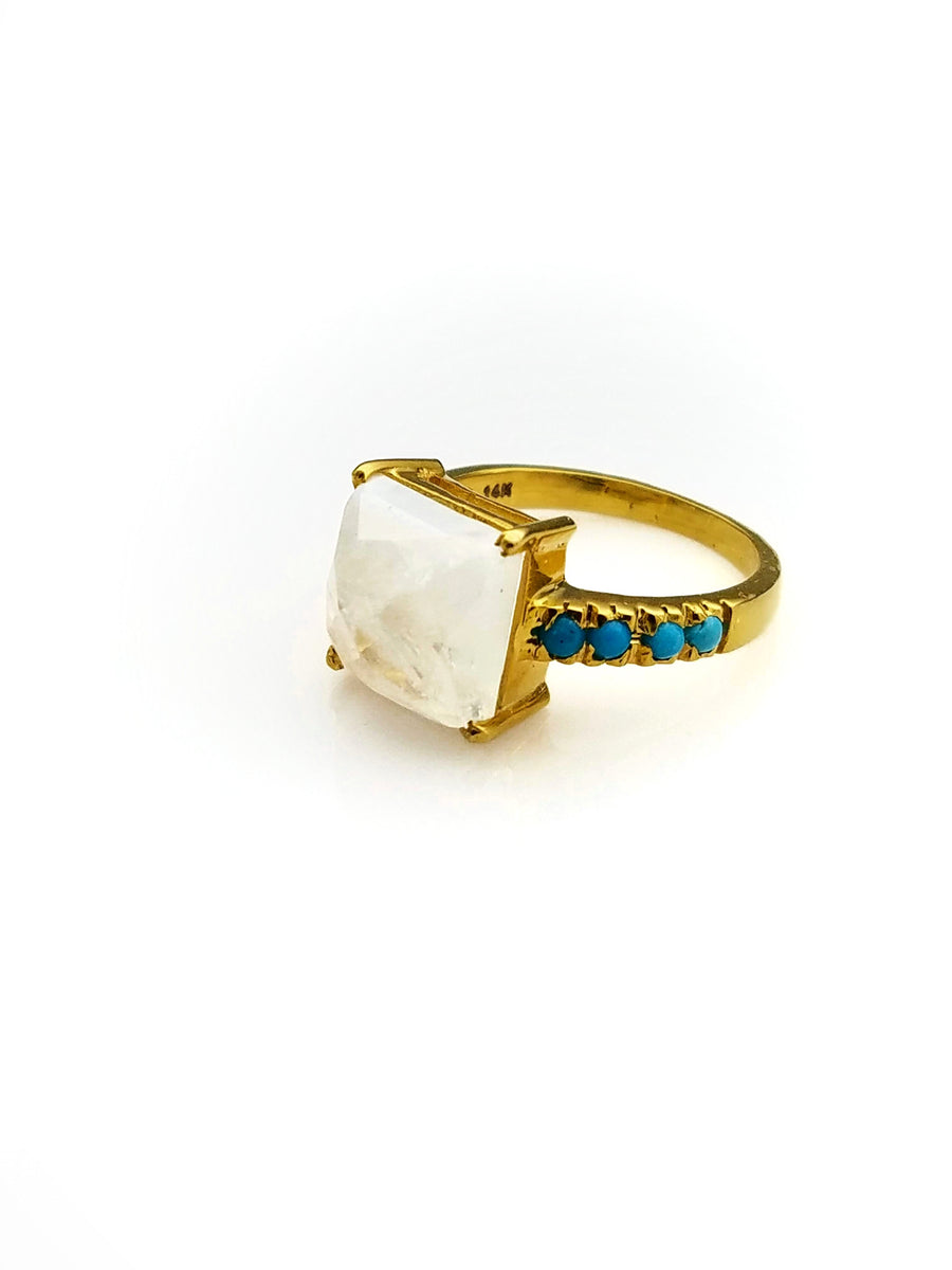 MOONSTONE TURQUOISE RING SONIA TONKIN