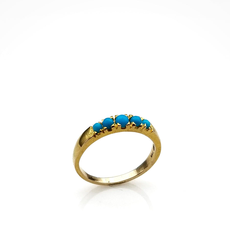 SLEEPING BEAUTY TURQUOISE 14KT GOLD RING SONIA TONKIN