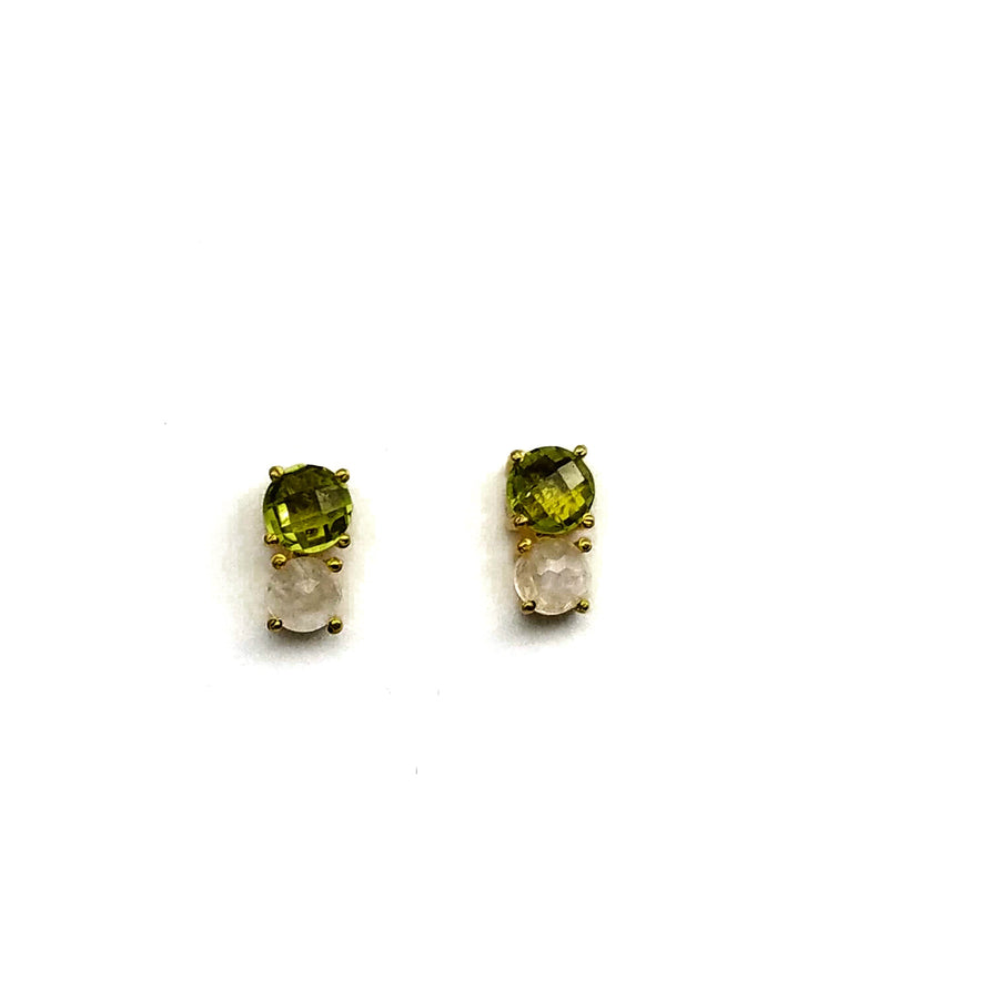 PERIDOT MOONSTONE GOLD EARRINGS SONIA TONKIN