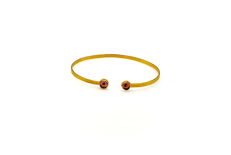 TOURMALINE SIGNATURE GOLD OPEN BANGLE