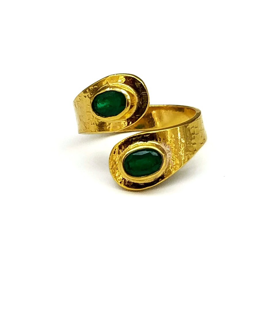 EMERALD 14 KT GOLD RING SONIA TONKIN