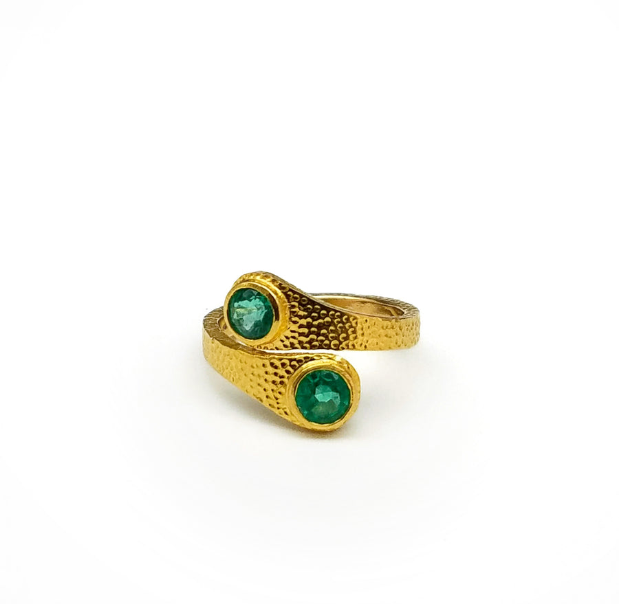 EMERALDS GOLD RING SONIA TONKIN