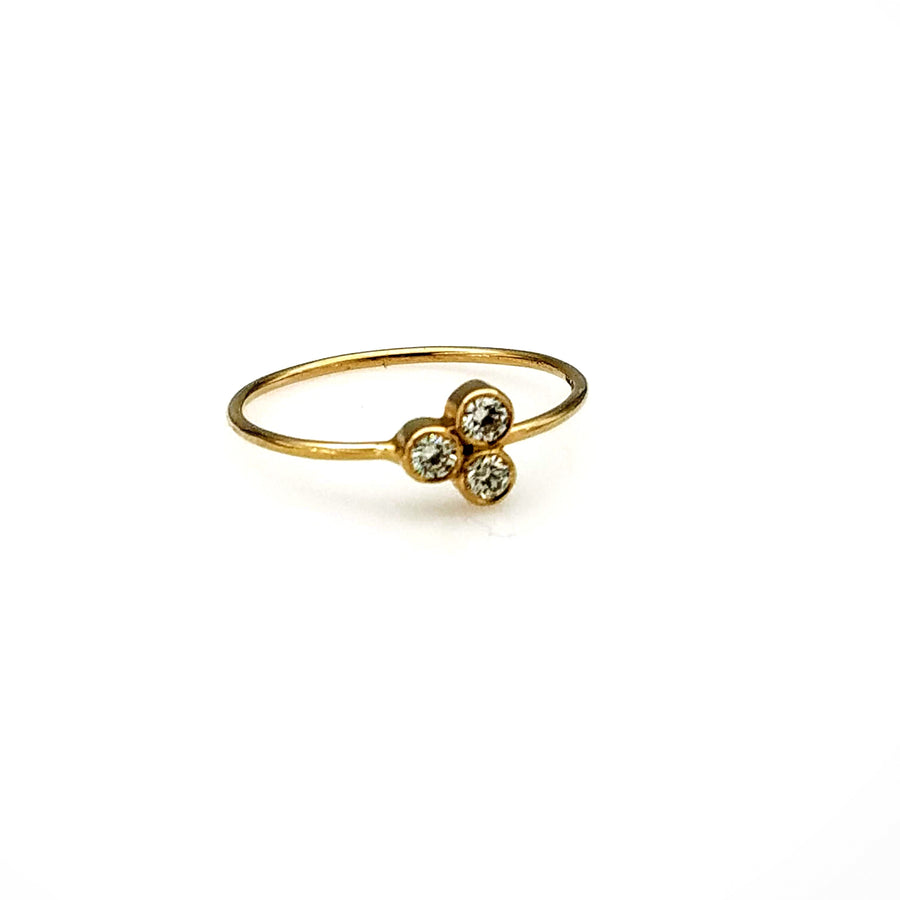 DIAMONDS FLOWER STACKING RING