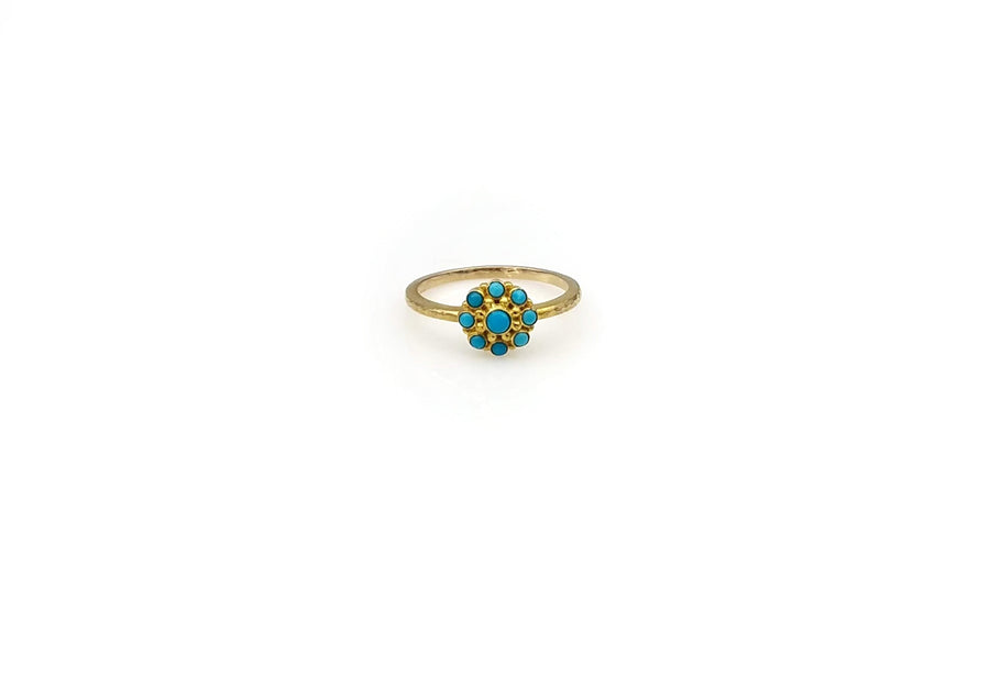TURQUOISE GOLD RING SONIA TONKIN