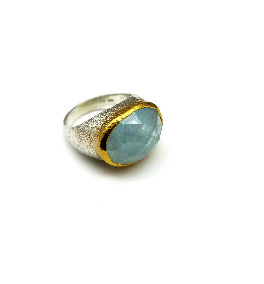 AQUAMARINE GOLD MIO RING SONIA TONKIN