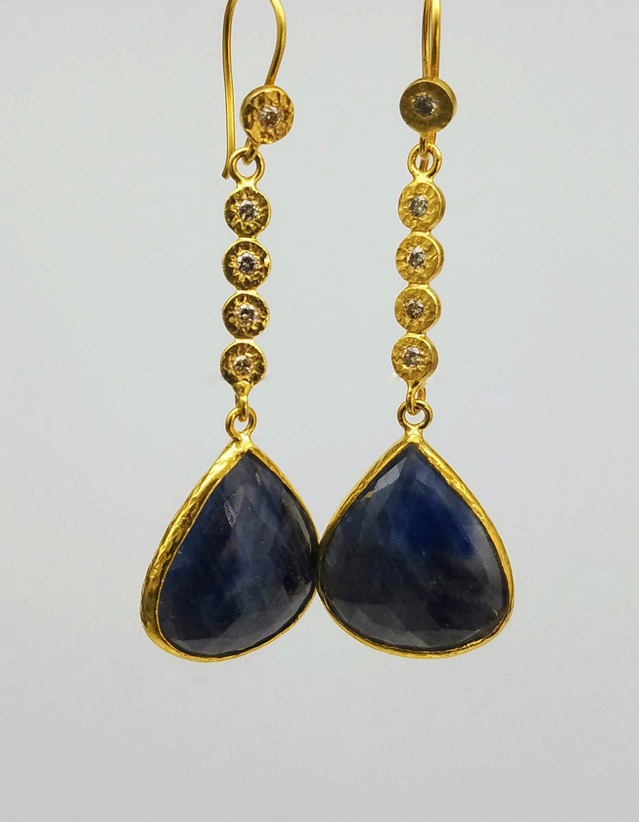 DIAMOND SAPPHIRE EARRINGS SONIA TONKIN