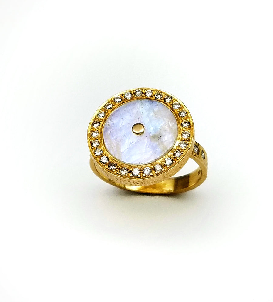 BRILLIANT DIAMONDS MOONSTONE SUN RING SONIA TONKIN