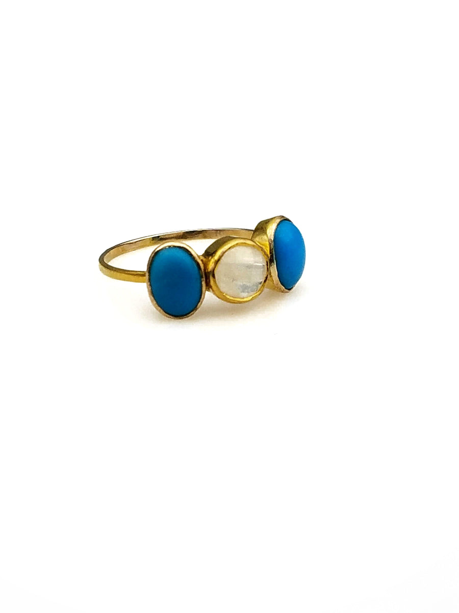 TURQUOISE MOONSTONE RING