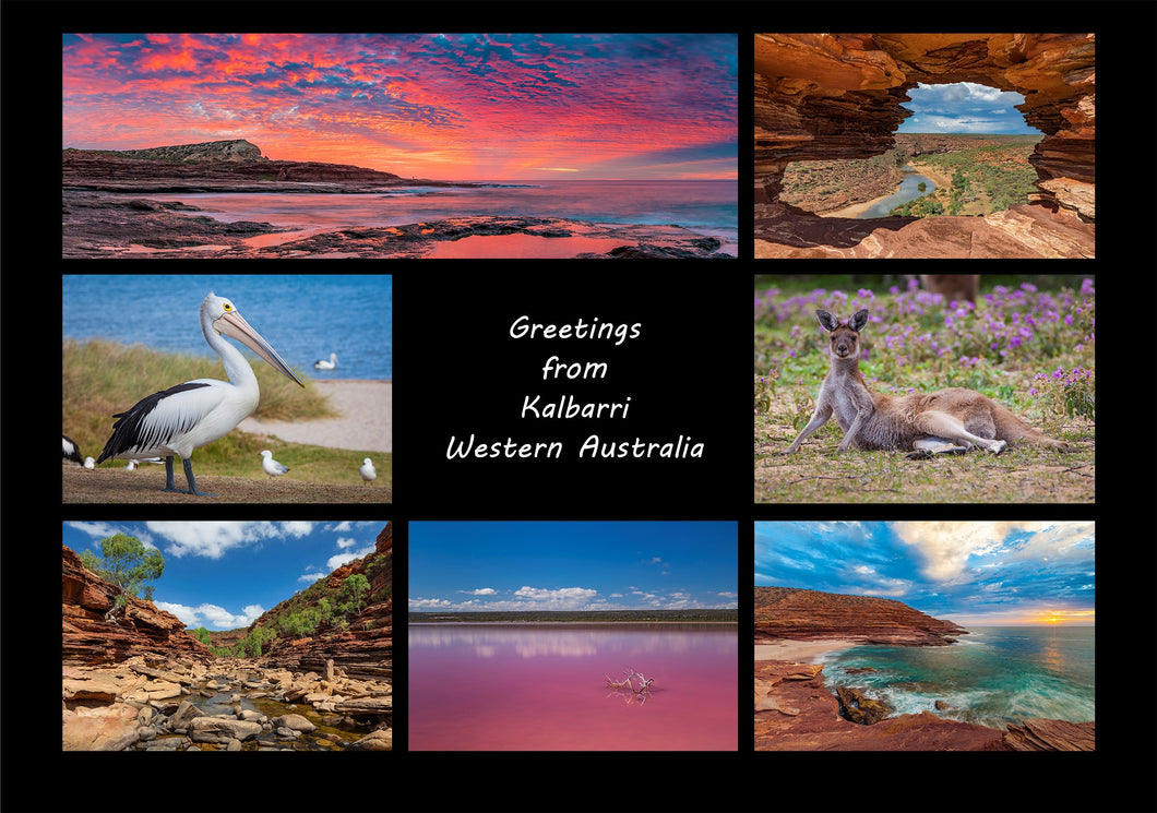 Greetings from Kalbarri - Folded Greeting Card 5x7 - Design 2