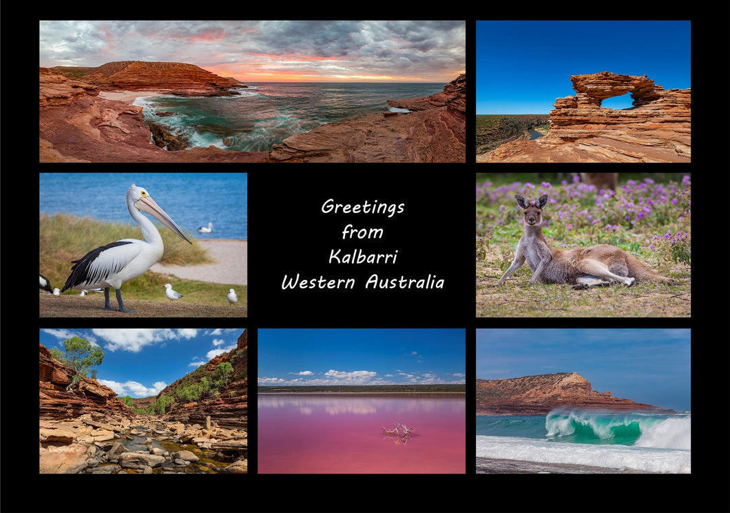 Greetings from Kalbarri - Folded Greeting Card 5x7 - Design 4