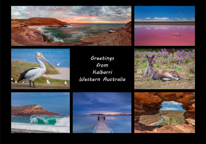 Greetings from Kalbarri - Folded Greeting Card 5x7 - Design 5