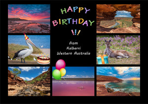 Happy Birthday from Kalbarri - Greeting Card 5x7