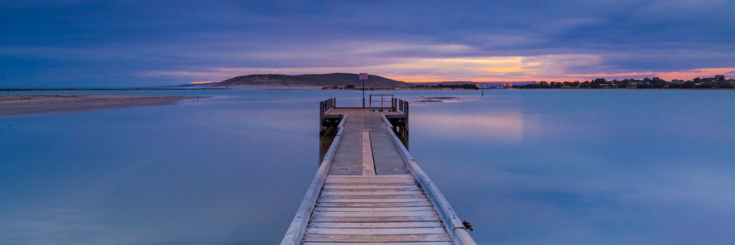 WW023 - Kalbarri Jetty Moody Sunset Pano