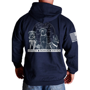 $50 Donation - Project K-9 Hero Trio Mens Hoodie by Nine Line