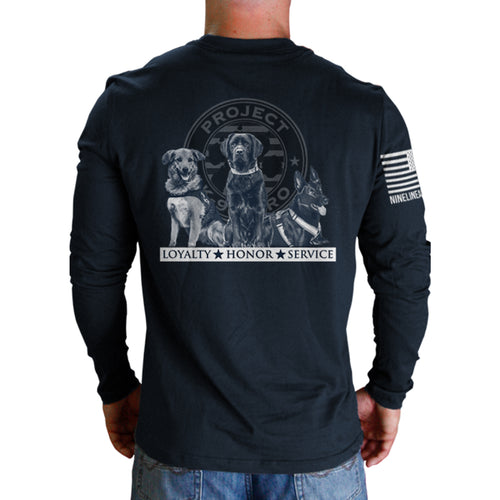 $40 Donation - Project K-9 Hero Trio Long Sleeve by Nine Line