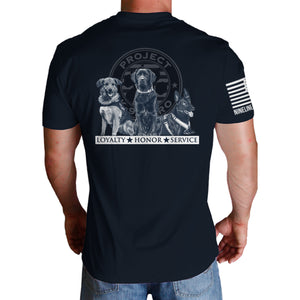 $35 Donation - Project K-9 Hero Trio Unisex T-Shirt by Nine Line
