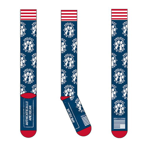$20 Donation - Project K-9 Hero Knee High Socks by Authentically American