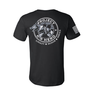 $35 Donation - Project K-9 Hero Axel Mens T-Shirt by Nine Line