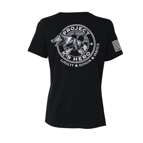 $35 Donation - Project K-9 Hero Axel Women's T-Shirt by Nine Line