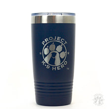 Load image into Gallery viewer, Polar Camel Tumbler with Project K-9 Hero Logo on white background