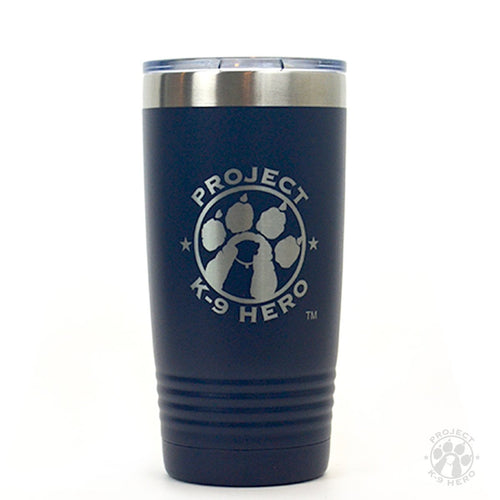 Polar Camel Tumbler with Project K-9 Hero Logo on white background