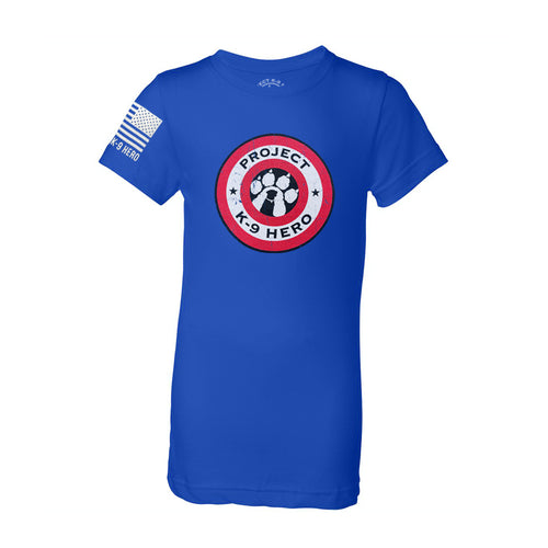 $30 Donation - Project K-9 Hero Shield Girls T-Shirt