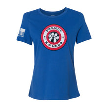 Load image into Gallery viewer, $35 Donation - Project K-9 Hero Women's Shield T-Shirt