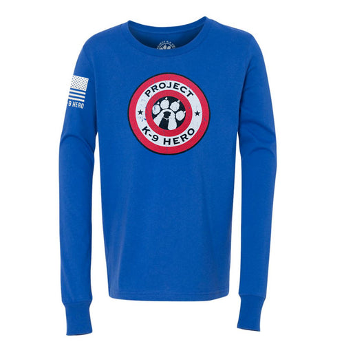 $35 Donation - Project K-9 Hero Shield Youth Long Sleeve