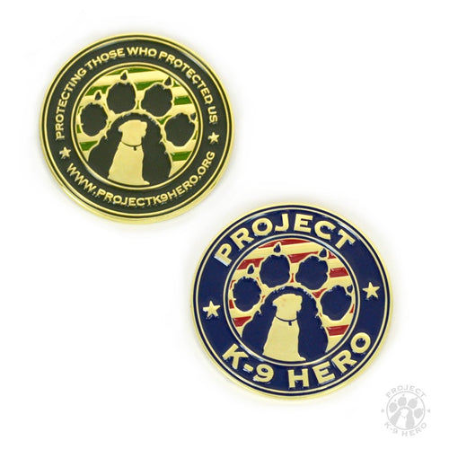$25 Donation - Project K-9 Hero Challenge Coin