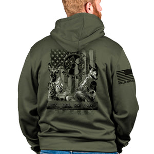 $55 Donation - Project K-9 Hero MWD Tailgater Hoodie by Nine Line