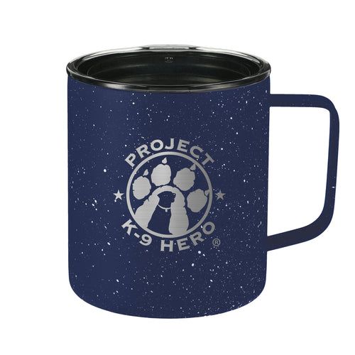 $25 Donation - Project K-9 Hero 14oz Speckled Camp Mug